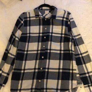 "JCrew ""boy fit"" flannel button down"